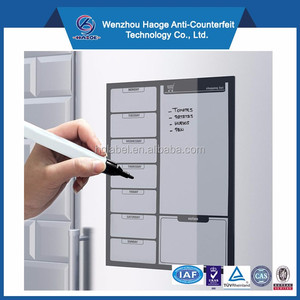 Dry erase magnetic week board refillable whiteboard magnet