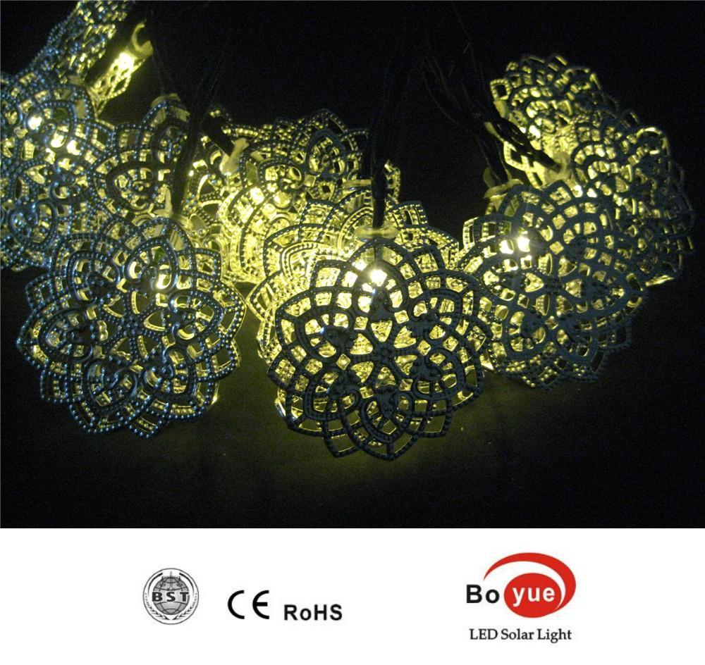 2015 Artistic Designing Led Solar Powered Metal Decoration