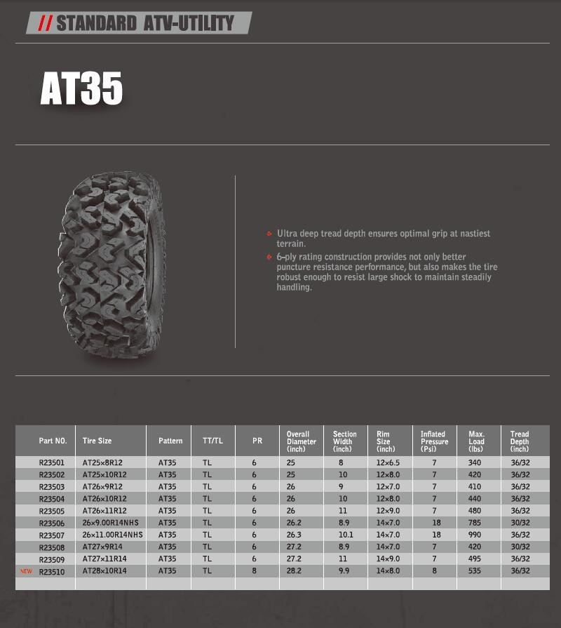 ARISUN BRAND ATV TIRES STANDARD ATV-UTILITY RADIAL ATV TYRES made in china tires