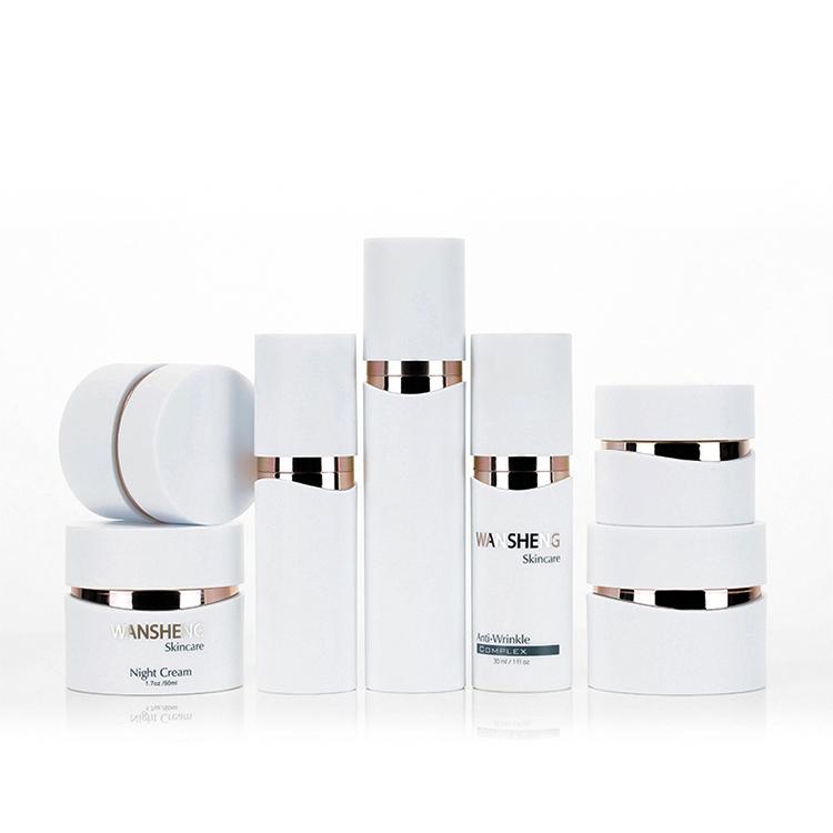 Акриловый цилиндр контейнер косметические бутылки и банки для крема банка флакон для лосьона