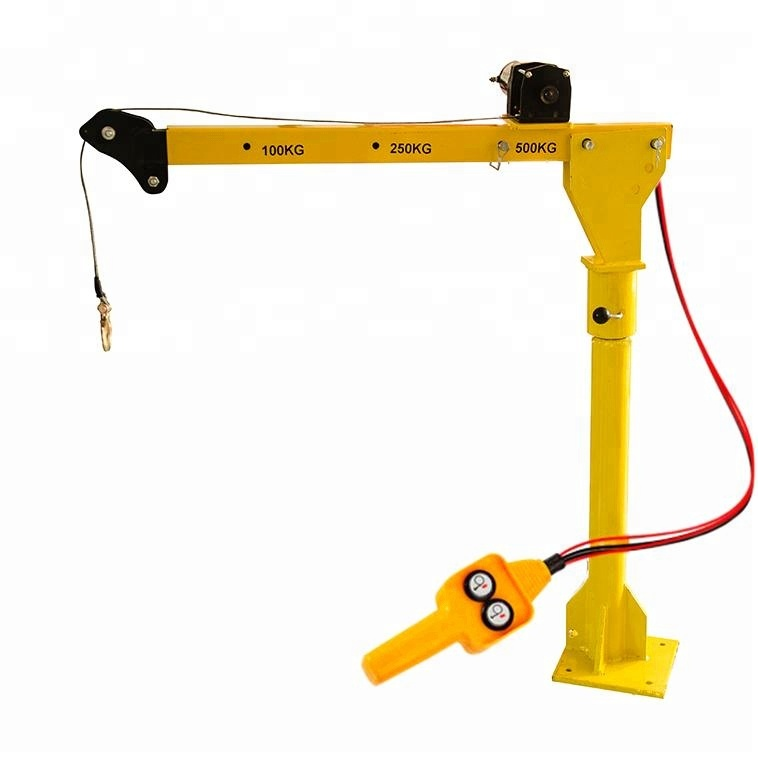 1000LB Mini Electric Tời 12 v Pickup Xe Tải Gắn Nâng Crane For Sale