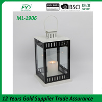 Fashion metal lantern with black and white color mix home decoration ML-1906