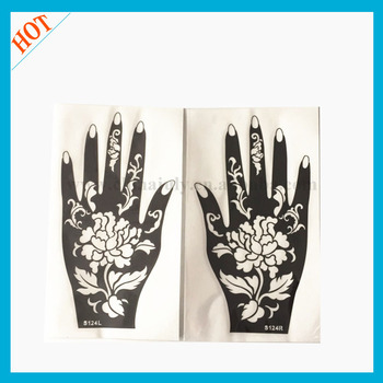 Safe temporary tattoo stencils reusable henna stencils for for Henna tattoo kits target