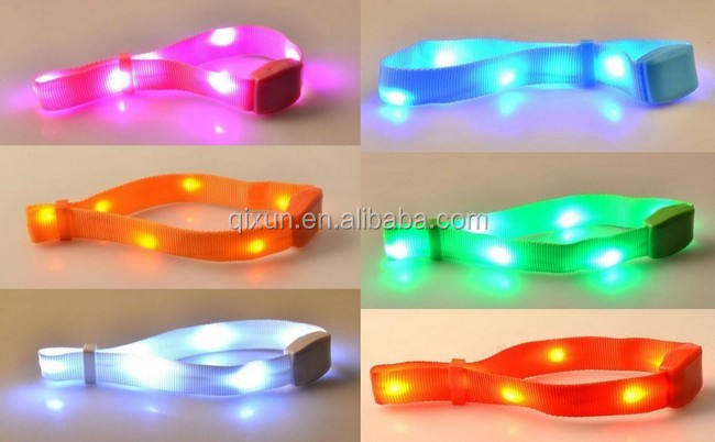 sound activated wireless rgb led controller custom woven bracelet
