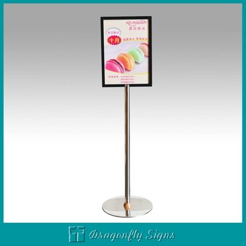 Portable outdoor sidewalk sign a board poster stand buy - Porta poster plexiglass ...