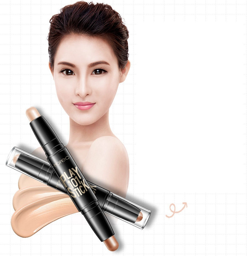 Hot Rorec Double Side Highlight Shading Makeup Concealer Pencil Whitening Long Lasting Foundation <strong>Cosmetics</strong> 3 Colors CA4769