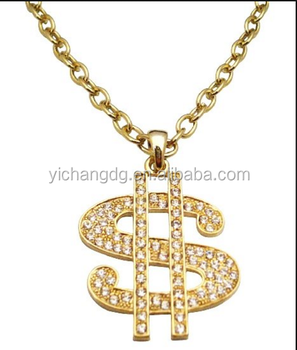 Chain Necklace Clip Art Gold Dollar Sign Jewelry 14k Gold ...