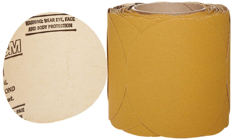 "3M Stikit Paper Disc Roll 363I, PSA Attachment, Aluminum Oxide, 5"" Diameter, P120 Grit (Roll of 100)"