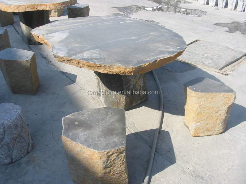 Tavoli Da Giardino In Pietra.Granito Tavolo Da Giardino E Sedie Mobili Da Esterno In Pietra Buy