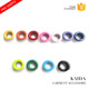 KAIDA Hot selling round grommets washer paint colorful metal eyelets ring for garment