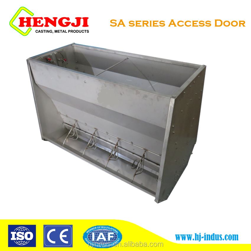 Double side Feeding Stainless Trough for Pig