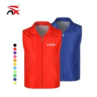 Wholesale Custom Polyester Sleeveless Work Volunteer Vest With Any Logo