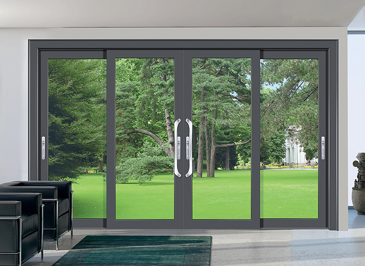 Chinese supplier factories sell 4 panel aluminum sliding patio doors sections