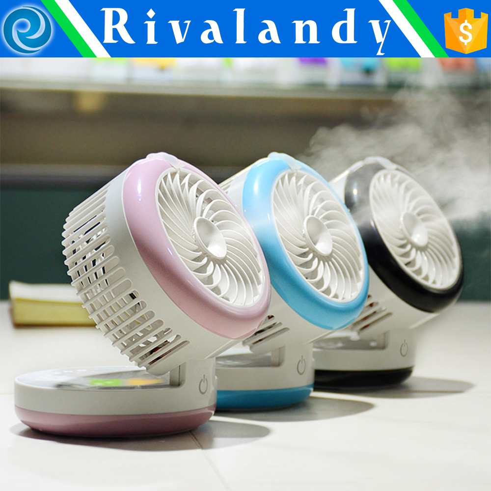 Handheld Rechargeable Mini Fan Mist Water Air Spray Fan Cooling Humidifier Fan