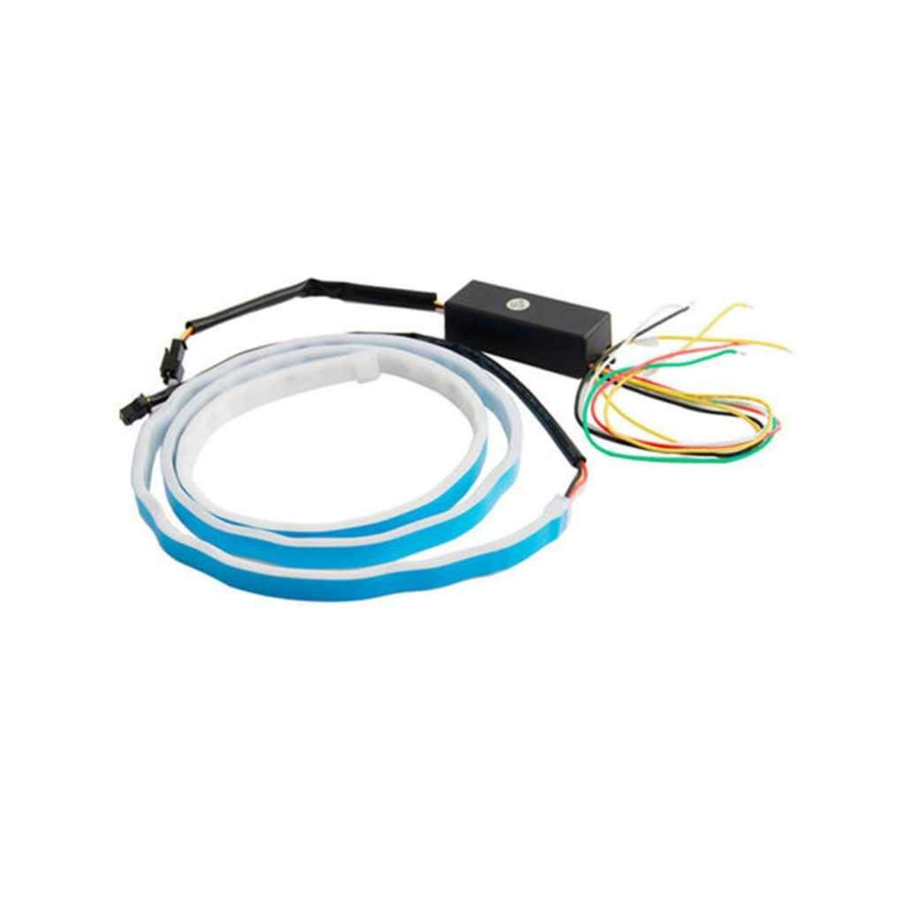 12V LED Tail Lights Strip Car LED Trunk Light RGB Dynamic Streamer Brake Turn Signal Warning Lights Strips Chilie