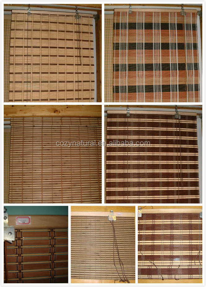 bamboo roll up blind curtain roller blind widow shade