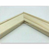 Wooden canvas frame stretcher bar and wooden wedge
