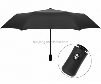 Travel Umbrella Windproof Compact Umbrellas Auto Open Close Easy Touch Fold With Light Reflective