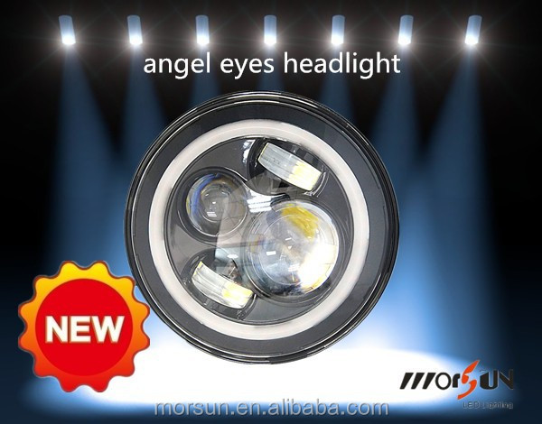 7 inches Angel Eyes round headlights SAE DOT ECE 7inch LED Round Head light