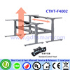 CTHT-F4002 Two seats in front height adjustable desk frame with 4 memory height lifting clicks