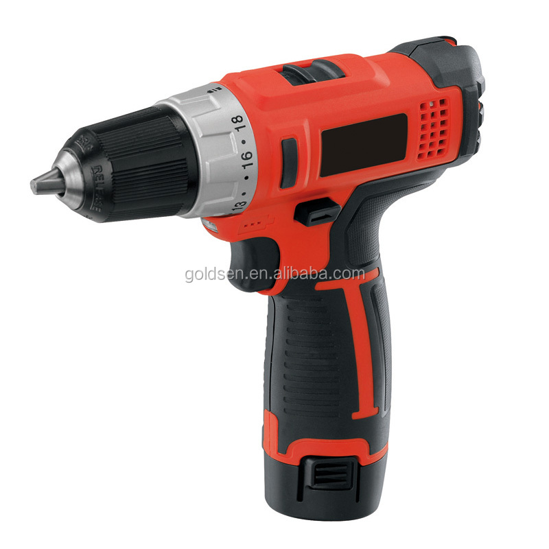 TOLHIT 10.8v 1.5Ah 25Nm Two Speed Fast Charger Power Electric Screwdriver Portable Cordless Drill Set