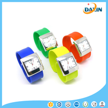 Cheap promotion health custom design silicone slap watch