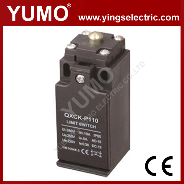 QXCK-P110 Metal head direcacting type 0.5m/s 15 million times 30*30*63mm IP65 Limit Switch
