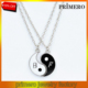 fashion excellent 2 yin yang necklace for best friends and lovers pendant