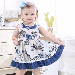 8357e21097b4a 2019 summer Baby girls party wear dress children frocks designs Flower  Printed Dress