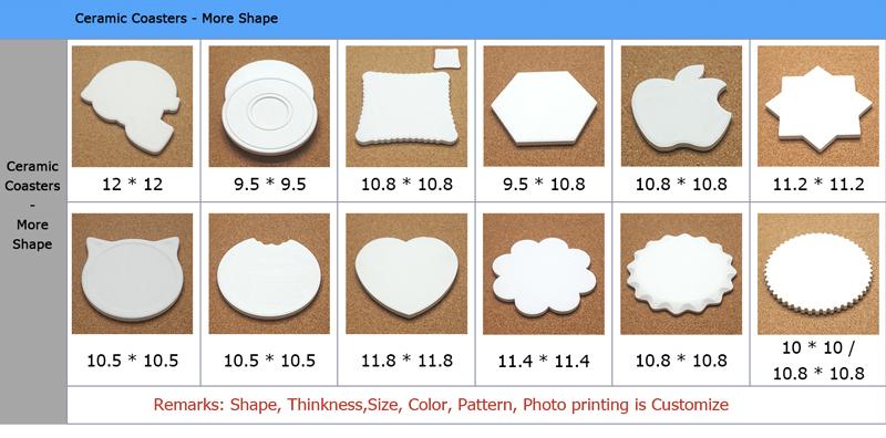 Customised Blank Sublimation Ceramic Tile Drink Coasters