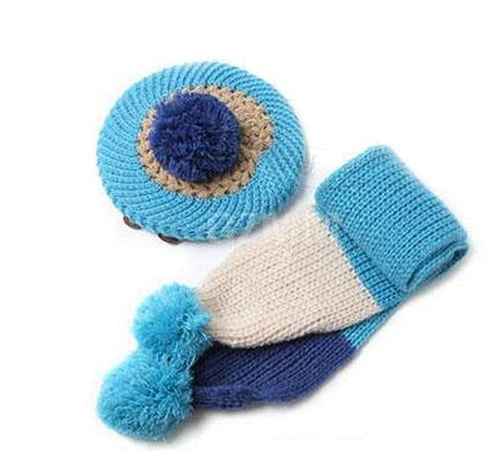 35d3f17ae20 Get Quotations · Yonger Winter Baby Boys Kid Hat Knitted Crochet Beanie Cap  Scarf Set