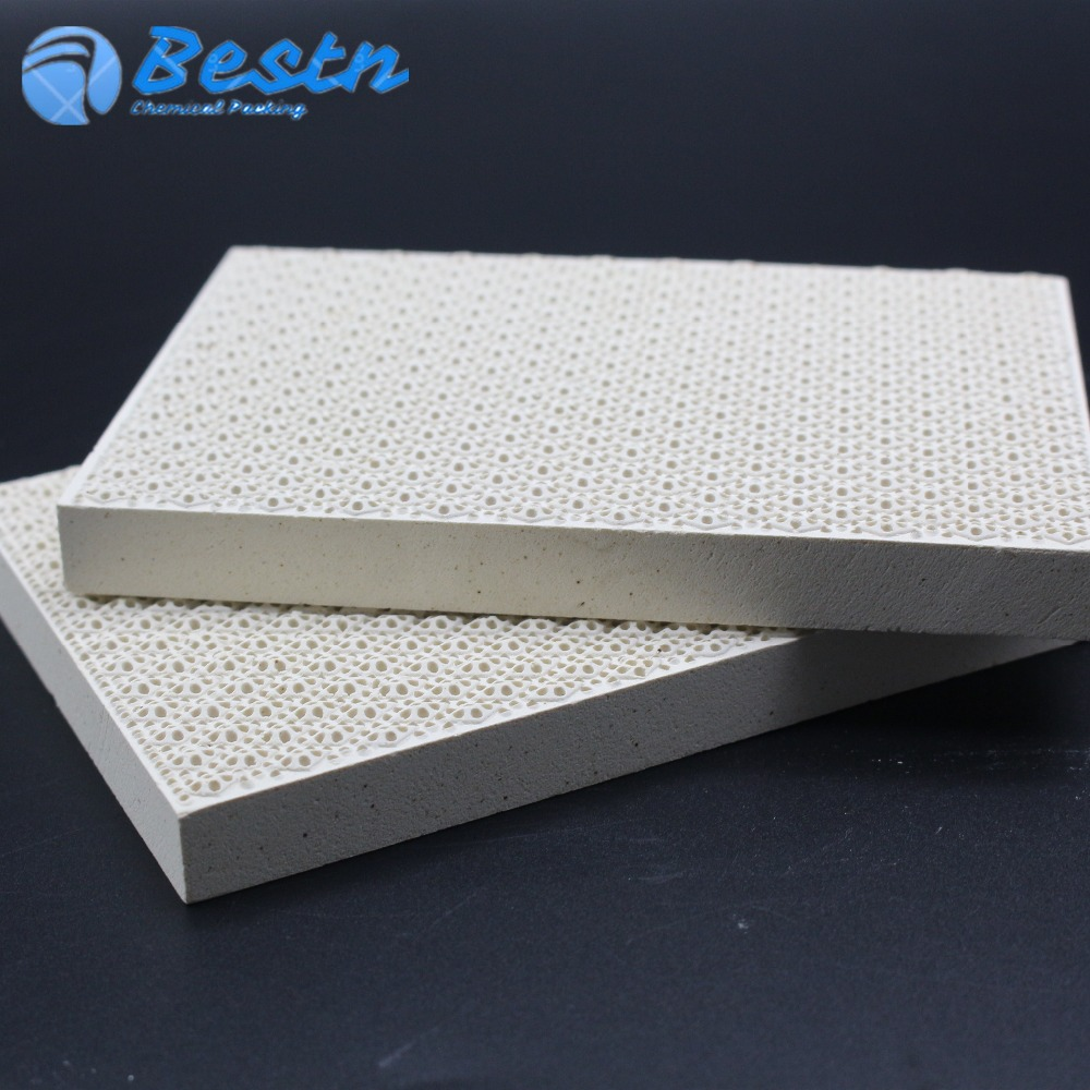 BBQ Industrial infrared gas burners use Cordierite Honeycomb Ceramic plate