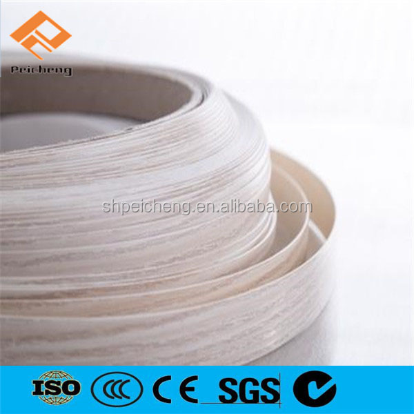 Shanghai Supplier PVC edge banding manufacture for plastic shelf edge banding tape