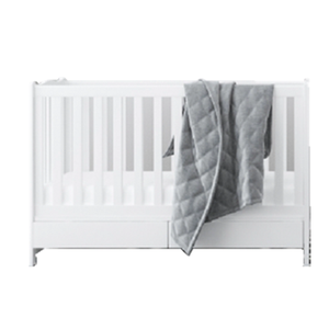 Water based paint solid Pine wood convertible multifunctional baby crib as cot bed