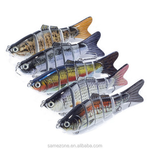 Minnow Lure Hard Bait with 3 Treble Fishing Hooks Fishing Tackle 3D Eyes ornamental-fish articulos de pesca olta