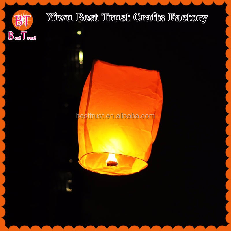 Wholesale 100 biodegradable Paper Chinese Floating Wish Kongming Light Lantern, Flying Sky Lantern