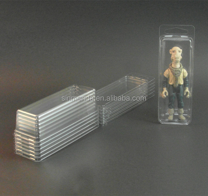 Custom high quality embossing logo plastic PVC PET blister clamshell packaging for toy