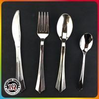 Disposable look like silver plastic silverware