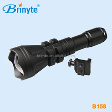 B158 LED zoom green, red, white led lights hunting equipment flashlights
