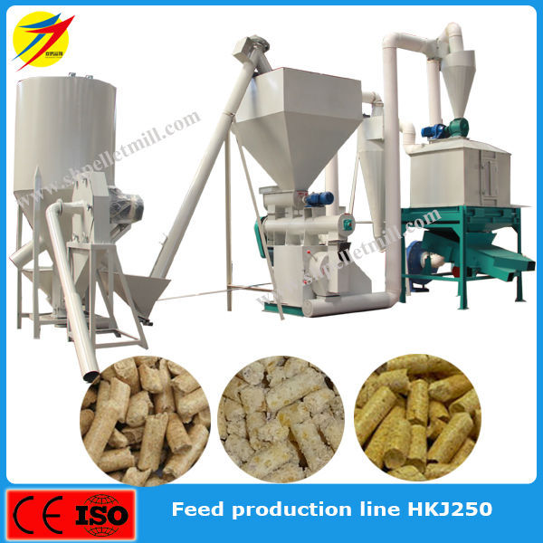 China Supply Ring Die Animal Feed Pellet Production Line ...