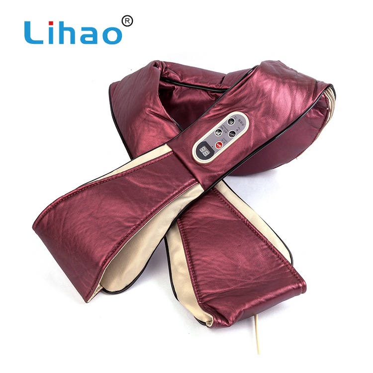 LIHAO Hot New Products Neck Shoulder Infrared Kneading Shiatsu Massager Heat