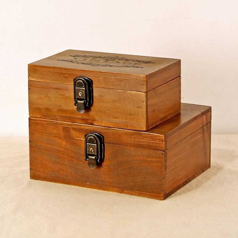 Decorative Boxes That Lock : Custom decorative lock wooden storage box for handmade