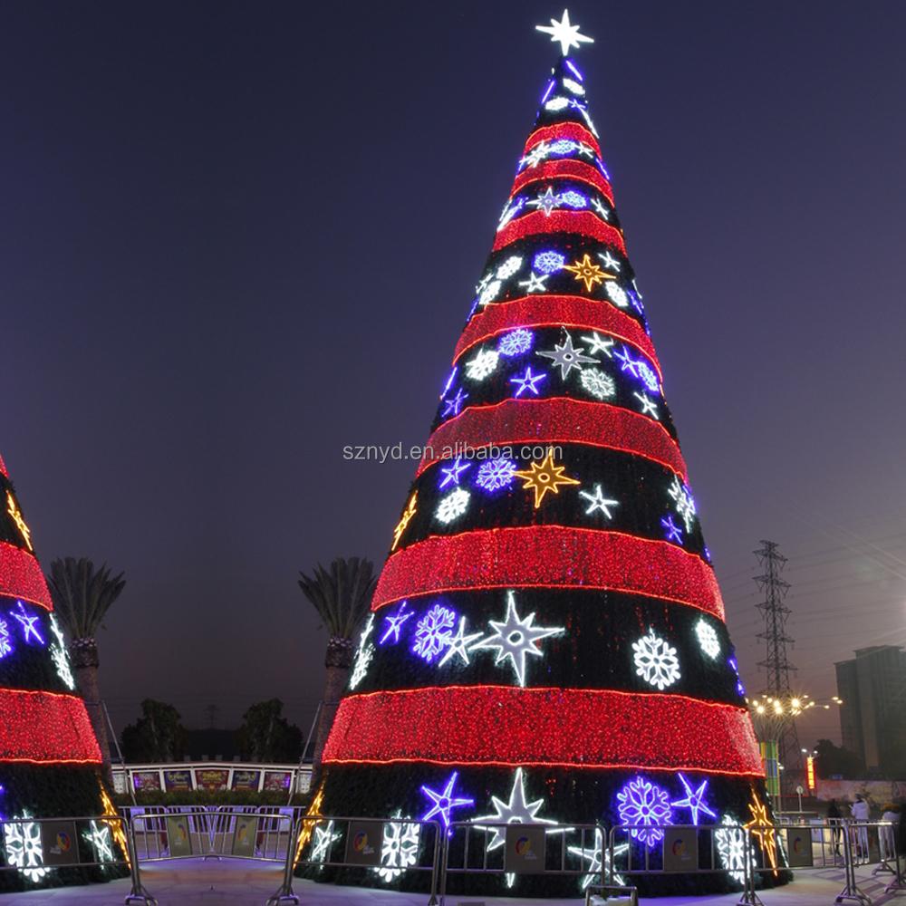 china proveedor al aire libre rbol de navidad gigante con hojas