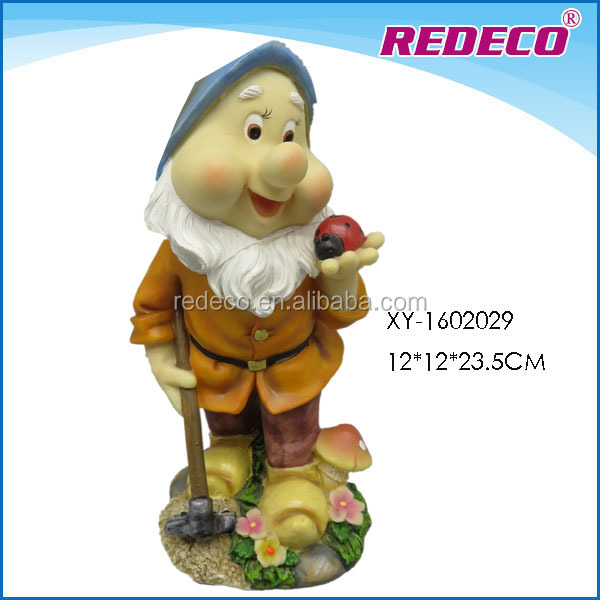 2016 polyresin gnome garden decoration for sale