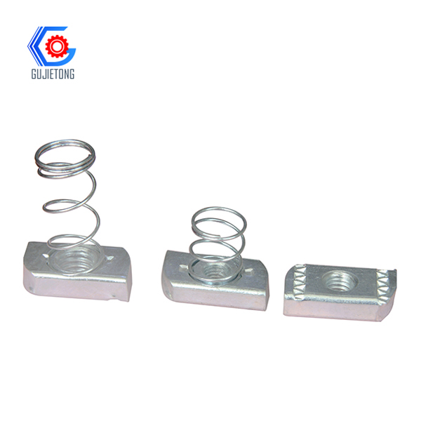 galvanized steel spring nuts and threaded m6