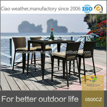 Outdoor Beach Bar Furniture Table Sets With 4 Chairs
