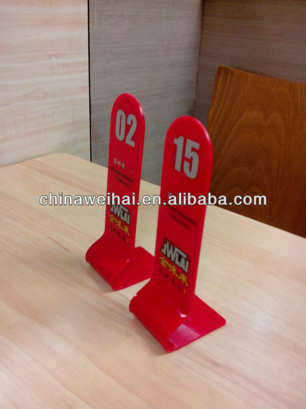 acrylic table numbers for restaurant