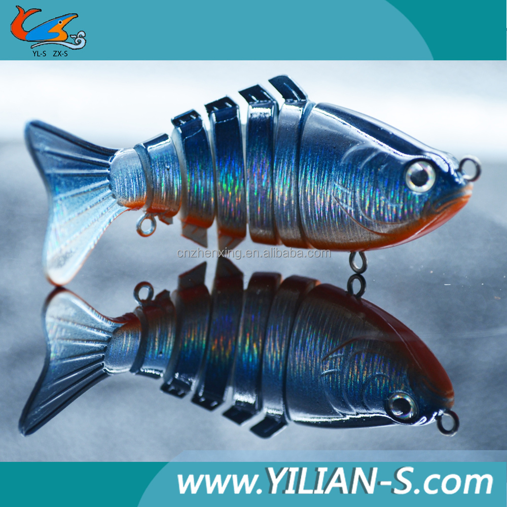 New 2016 lure 4 inch 15.5g 7 sections swimbait Fishing Bait Chinese Sea Fishing Tackle