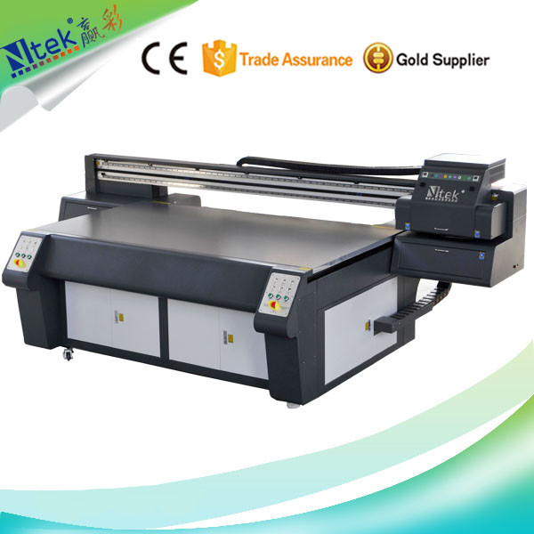 CE approved large format digital sticker printer machine,uv flatbed printer for digital sticker printing sale