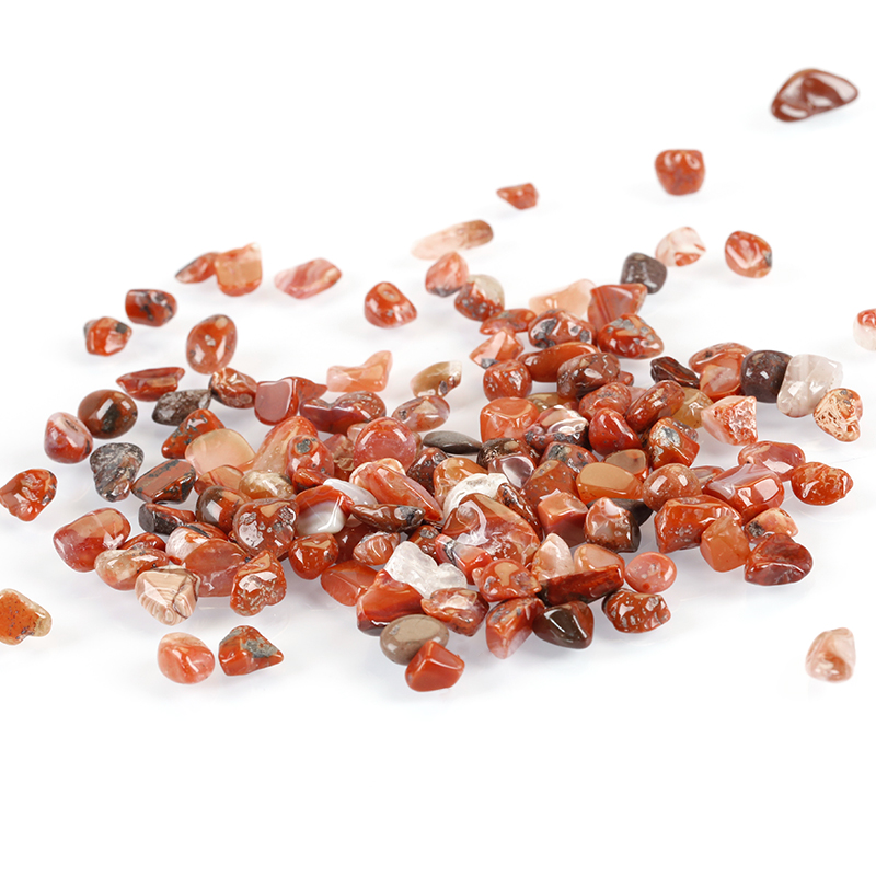 South Red Agate Natural Crushed Stone Bulk Small Tumbled Chips Crystal Healing Reiki for Outdoor Indoor Home Making Decoration